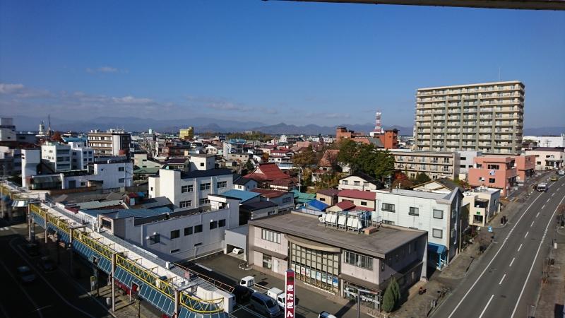 7階の屋上部分からの景色